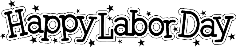 Labor Day Clip Art Black And White.png
