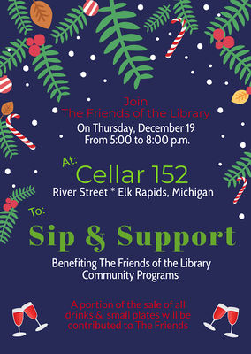 Friends of the Library Sip and Support