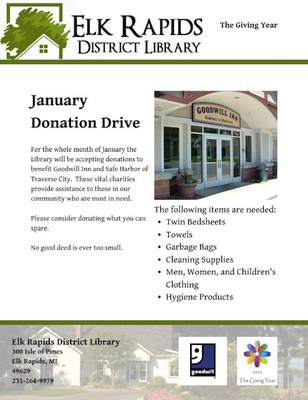 The Giving Year; January Donation Drive