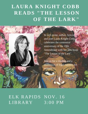 """The Lesson of the Lark"" a reading with Laura Knight Cobb"