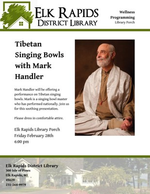 Tibetan Singing Bowls with Mark Handler