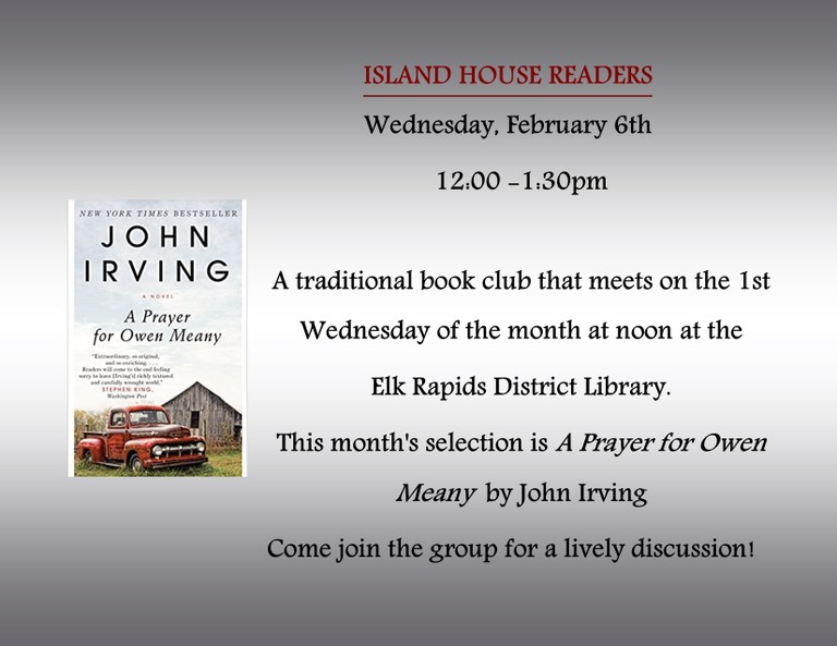 Island House Readers Feb 18